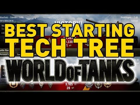 BEST STARTING TECH TREE In World Of Tanks!