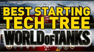 Gambar cover BEST STARTING TECH TREE in World of Tanks!