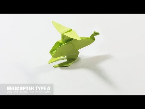 Origami Helicopter How To Make A Paper Copter Type A Youtube