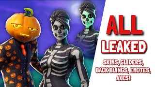 *NEW* FORTNITE v6.02 ALL LEAKS!! (Skins, gliders, axes, emotes, Skull Trooper challenges!)