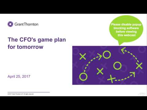 The CFO's Game Plan for Tomorrow