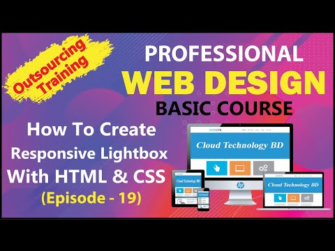 How To Create Responsive Lightbox Gallery With HTML & CSS (Episode - 19) || Cloud Technology BD
