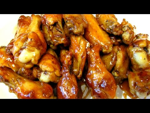 Spicy Maple Butter Chicken Wings - Spicy, Sweet & Sticky