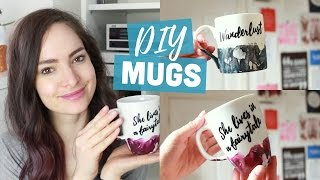 DIY customised mugs - watercolour & quote | CharliMarieTV