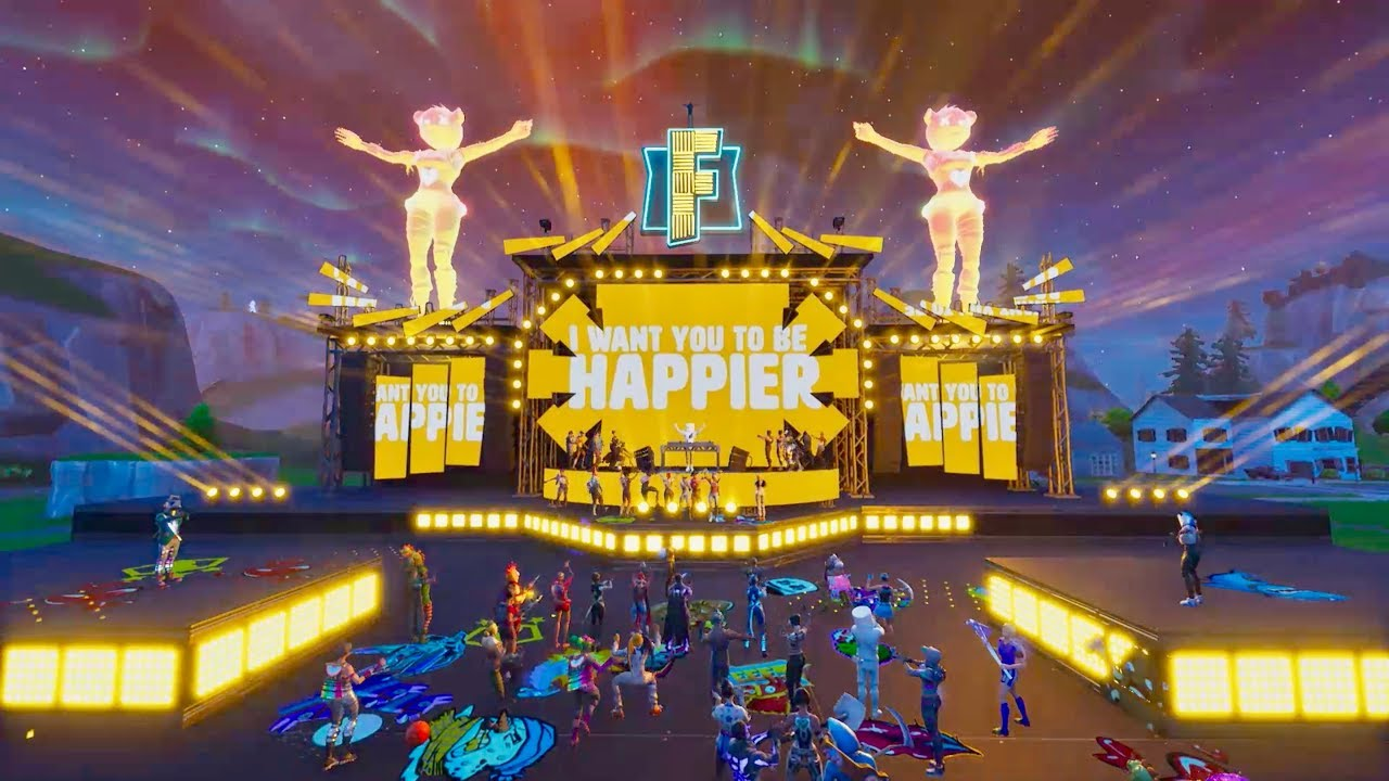 marshmello ft bastille happier official fortnite music video - marshmello fortnite song alone