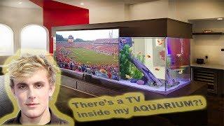 Jake Paul's Custom TV Aquarium