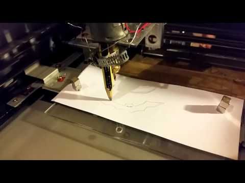 Homemade CNC machine from printer and photocopier parts