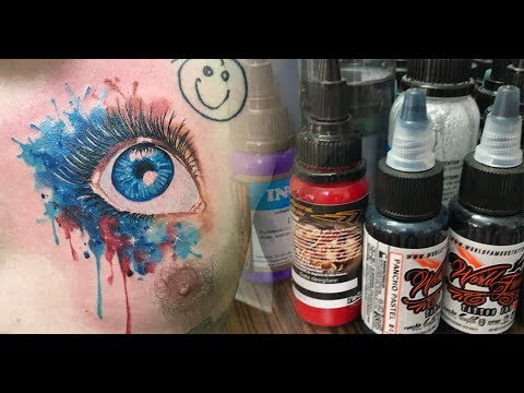 Watercolor eye - Tattoo time lapse