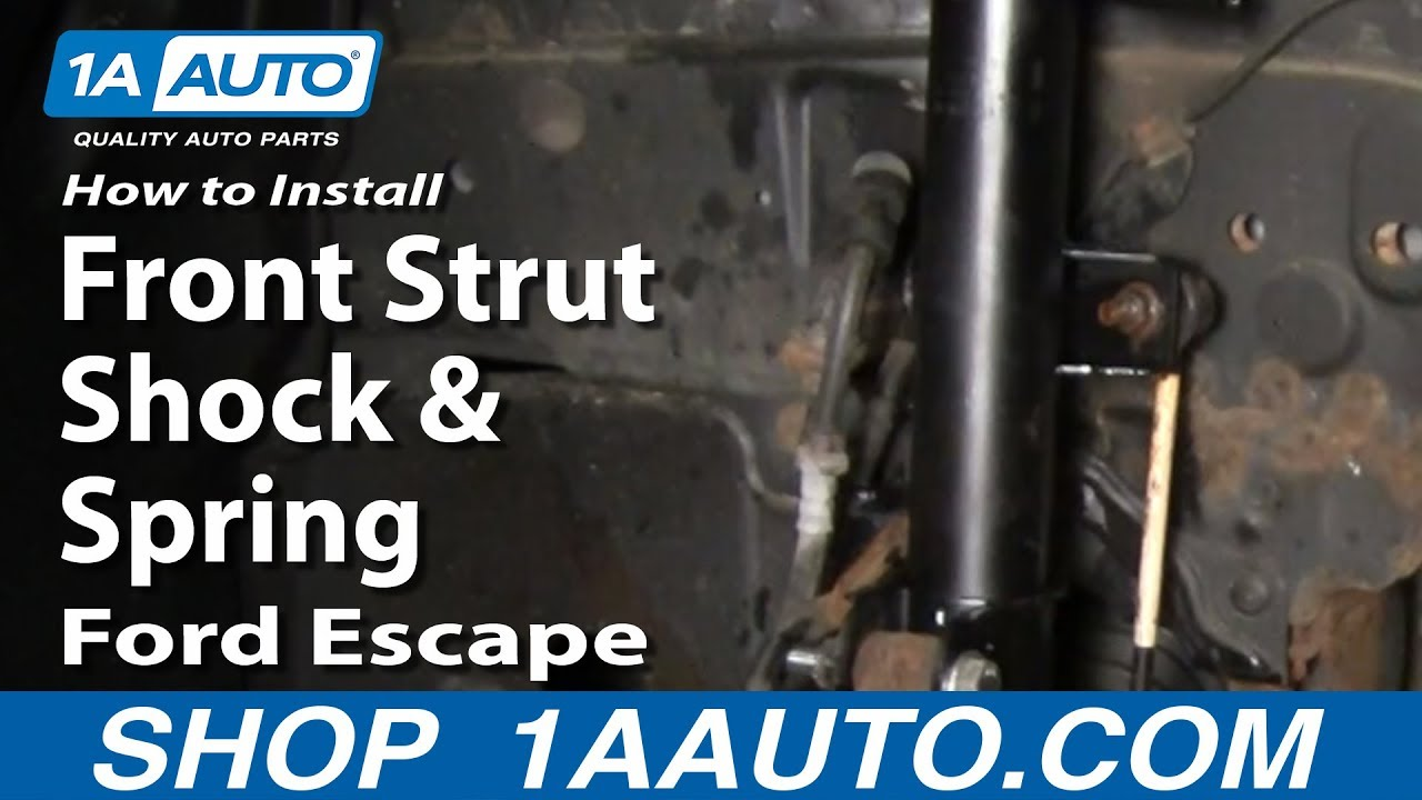 How to Install Replace Front Strut Shock & Spring Ford ...
