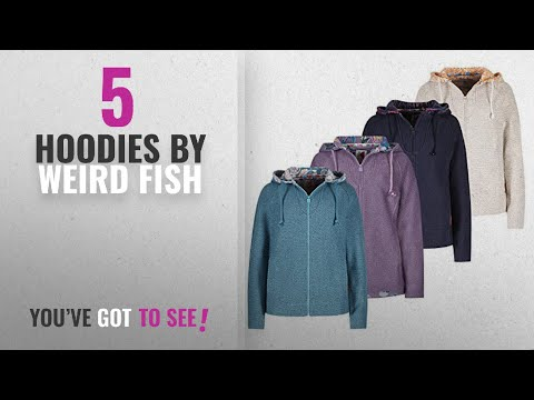 Top 10 Weird Fish Hoodies [2018]: Weird Fish Hani Print Trim Classic Macaroni Hoodie