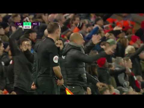 Pep guardiola reaction VS Liverpool