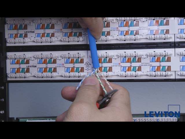 How to Terminate Leviton Flat 110-Style Patch Panels
