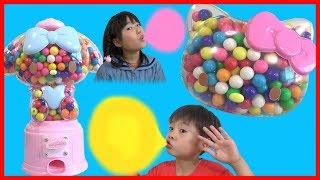 Hello Kitty ガムボール マシン キティちゃん マイメロちゃん 対決!! こうくんねみちゃん Sanrio My melody Gum ball machine thumbnail