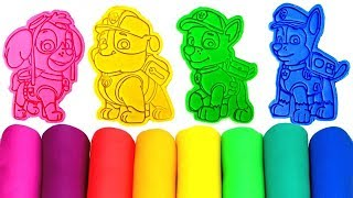 Learn Colors with Play Doh Paw Patrol Molds Surprise Toys Fun for Kids