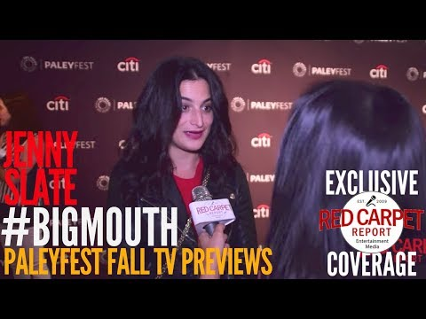 Jenny Slate interviewed at the #BigMouth Netflix series preview at PaleyFest