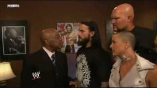 Teddy Long, CM Punk, Luke Gallows and Serena (Straight Edge So…