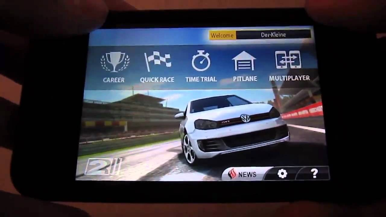 real racing 2 iphone 3gs gameplay