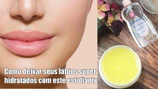 0 Melhor esfoliante labial usando óleo johnson