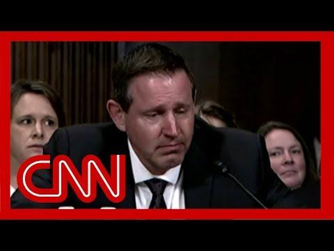 Trump judicial nominee breaks down in tears at hearing