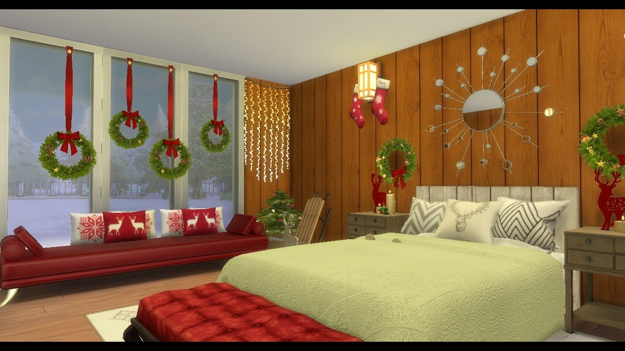 christmas bedroom sims 4