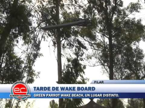 Green Parrot Wake Board