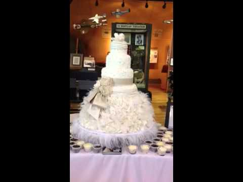 Bridal dress wedding cake by THE CAKE GUYS of Dallas Texas YouTube