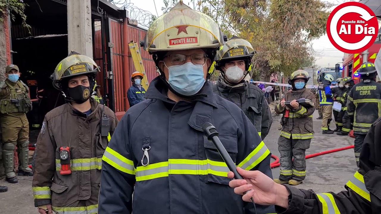 Niña de tres años muere en incendio ocurrido en Puente Alto