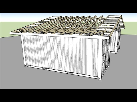 Building a Roof Over Shipping Containers - Part 1 - Feat. Music By Barret and Medeek Extensions