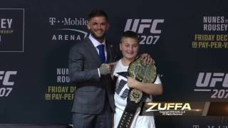 UFC 207: Cody Garbrandt Gives UFC Championship Belt to Cancer Survivor