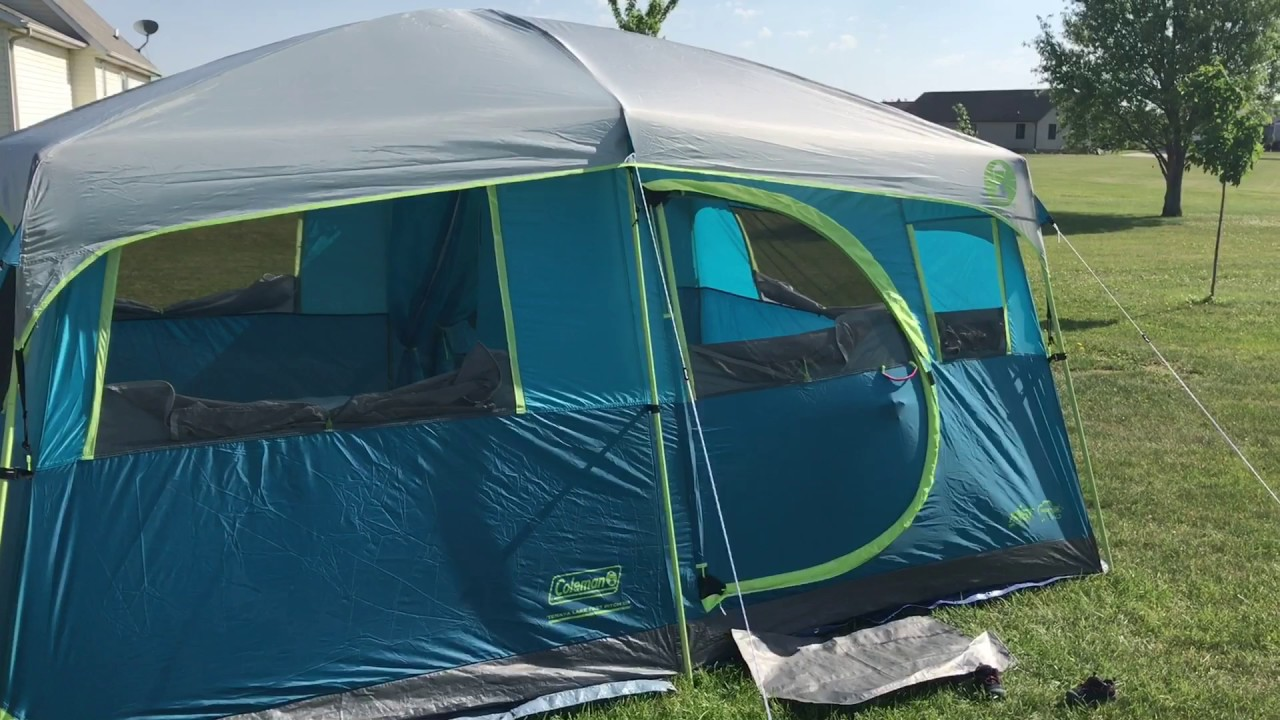 Coleman Tenaya Lake 8 Person Fast Pitch Cabin Tent Review & Coleman Tenaya Lake 8 Person Fast Pitch Cabin Tent Review - YouTube