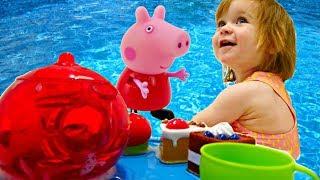 Учим фигуры - Бьянка и Пеппа - Развивающие Дада игрушки
