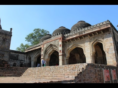15th Century Mosque with best calligraphic art at Lodhi Gardens, New Delhi