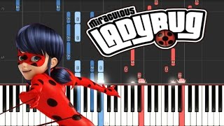 MIRACULOUS LADYBUG - Theme Song // Synthesia Piano Tutorial