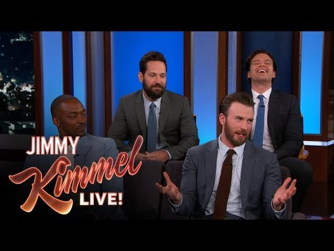Chris Evans, Anthony Mackie, Sebastian Stan & Paul Rudd Do Personal Trivia