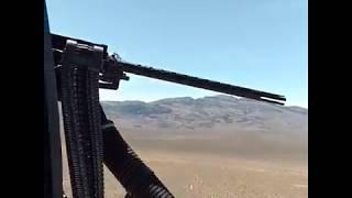 Афганистан. тренировка вертолётных бортстрелков