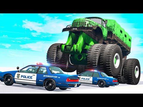 Giants Machines Crushes Cars #16 - Beamng drive |