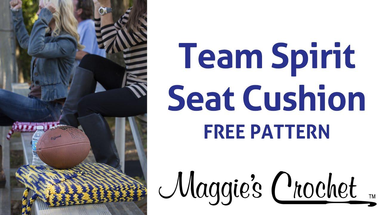 Free Crochet Pattern: Team Spirit Stadium Seat Cushion - Right ...