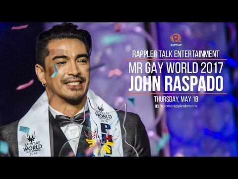 Rappler Talk Entertainment: Mr Gay World 2017 John Raspado
