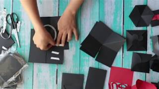 How to make Explosion Box /DIY Explosion box/ Explosion box Tutorial/Black and Red/ Part C