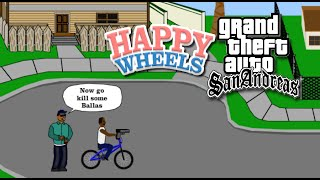 GTA SAN ANDREAS WHEELS! [HAPPY WHEELS] [MADNESS!]