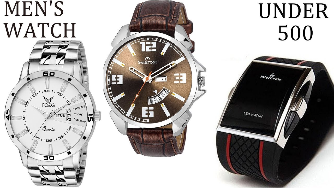 Top 10 Watches For Men Under Rs 500 Buy On Amazon Mens Watches