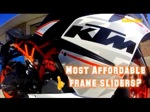 KTM RC390/Duke 390 Frame Sliders by T-Rex Racing - Install/Review ...
