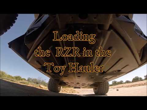 Loading The RZR In The Toy Hauler