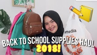 BACK TO SCHOOL SUPPLIES HAUL 2018! - Cantika Putri