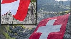 Die weltgrösste Schweizer Fahne wird am Säntis ausgerollt I Schweiz I News