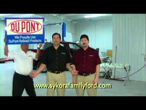 Sykora Family Ford Body Shop TV Commercial