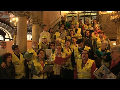 Iaioflautas ocupen el Palau de la Música Catalana