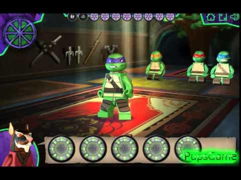 Бесплатные игры онлайн Игра Черепашки Ниндзя Лего драки ...