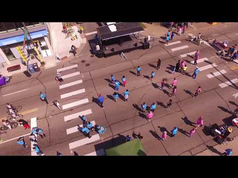 Open Streets West Broadway: Aerial View