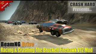 BeamNG Drive - Racing & Crashing The Bruckell Firehawk V12